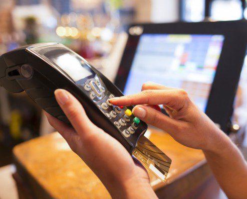 chip card reader at merchant
