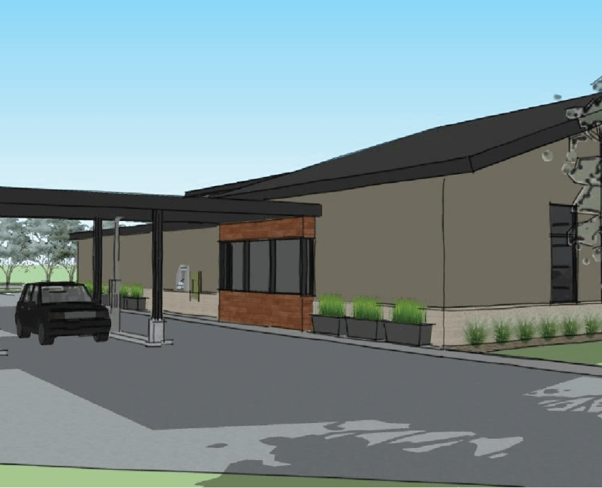 Rendering of Drive Thru for New Cedar Springs Branch