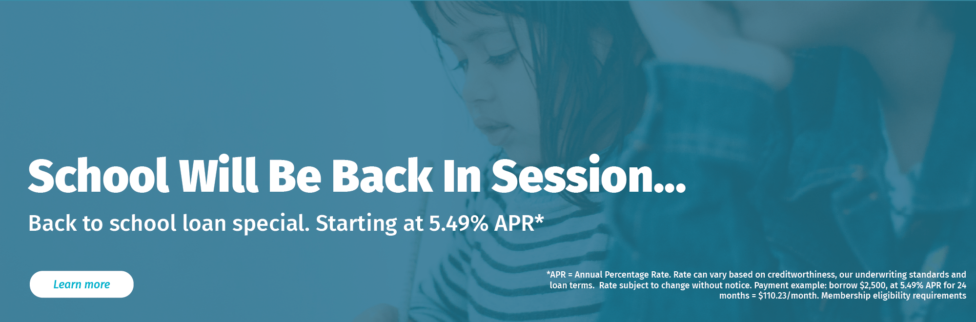 School will be back in session. Start the year off right with a back to school loan special.